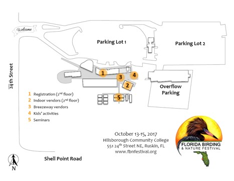 Shell Point Florida Map.Florida Birding Nature Festival Festival Locations